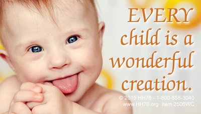 Heritage house 76 pro life supplies for the pro life movement every child is a wonderful creation magnets business card solutioingenieria Gallery