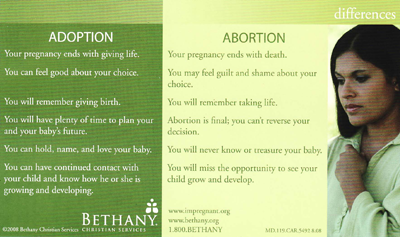 abortion versus adoption Why has no one asked an adoptee for their thoughts about the abortion vs adoption argument both the fetus and the adoptee lose on this argument.